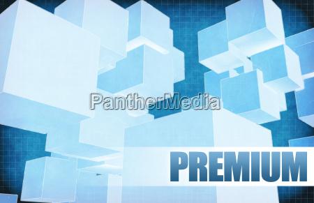 premium on futuristic abstract