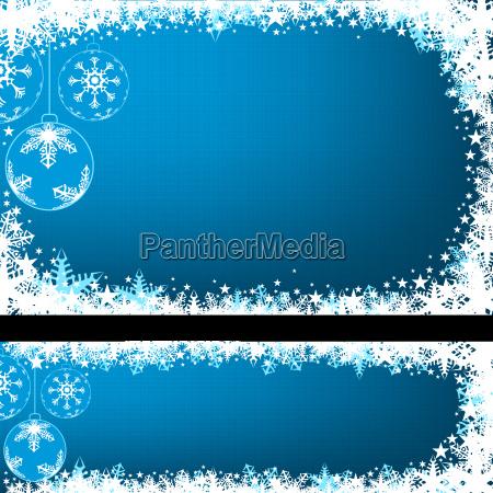 blue christmas banners