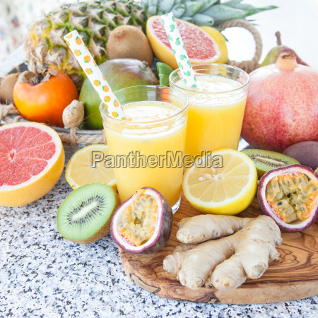 freshly squeezed fruit juice