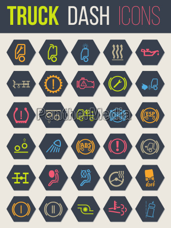 colorful icons for truck dashboards 4
