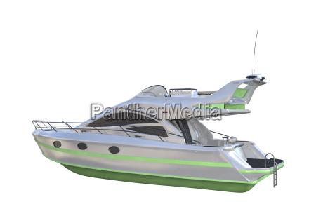 3d rendering yacht auf weiss