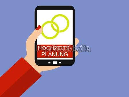 hochzeitsplanung auf dem smartphone