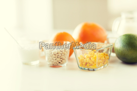 close up of food ingredients on