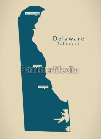 moderne karte delaware usa illustration
