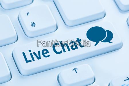 live chat contact communication service internet