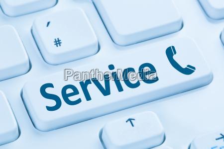 service hotline telefon anrufen blau computer