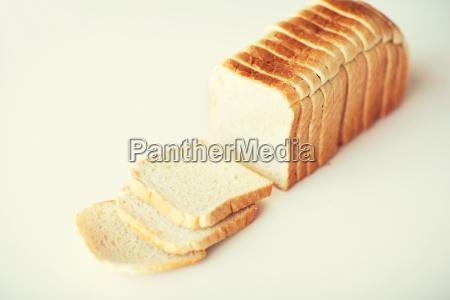 close up of white sliced toast