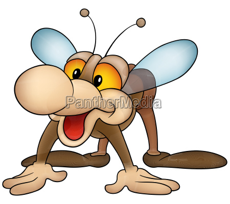 brown smiling housefly