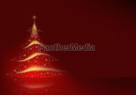 starry weihnachtsbaum hintergrund