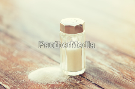 close up of white salt cellar