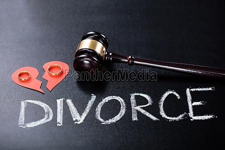 close up of divorce concept