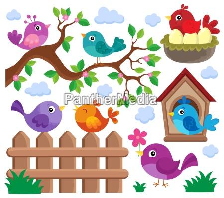 stylized birds theme set 2