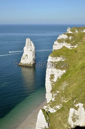 famous cliffs of etretat in france