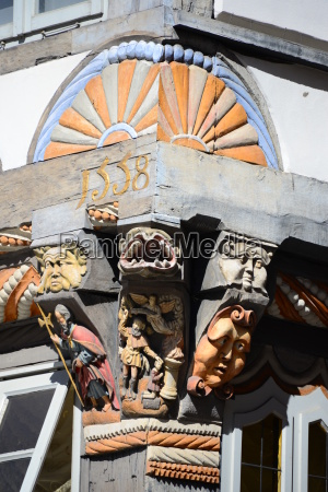 hausfassaden in hameln niedersachsen