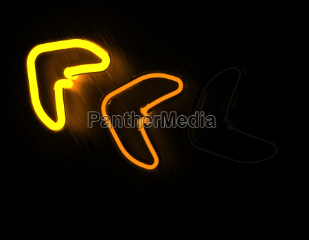 arrows neon sign isolated on black