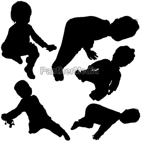 relaxing baby silhouettes
