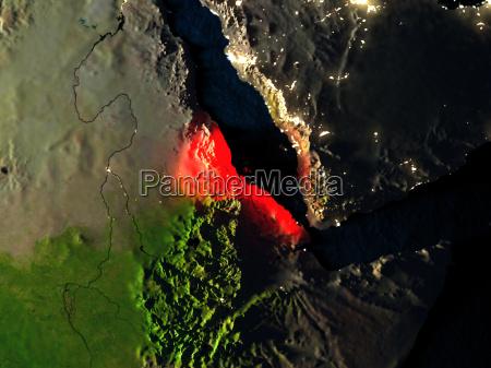 umwelt space nacht nachtzeit lichter afrika