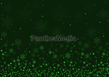 green christmas snowflakes background