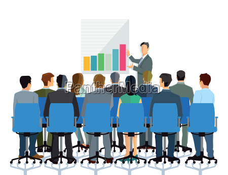 lecture and advice to a group