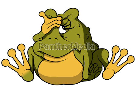 green female frog