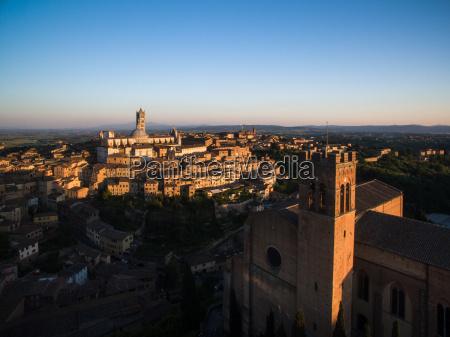 siena tuscany italy aerial view
