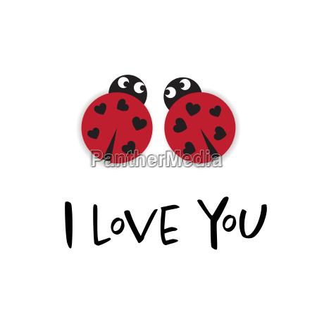 ich liebe dich karte mit zwei