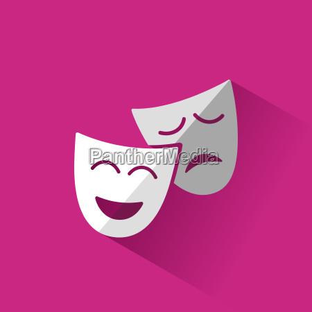 isolated masks icon with pink shadow