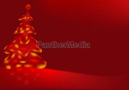 rotes weihnachtsbaum hintergrund