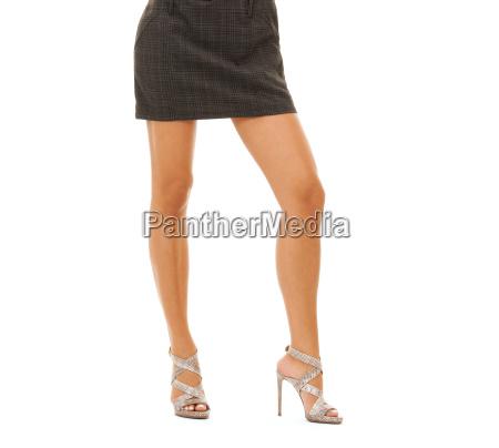 woman legs in high heel shoes
