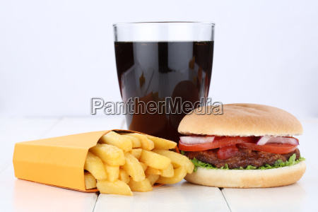 hamburger menu menu menu french fries