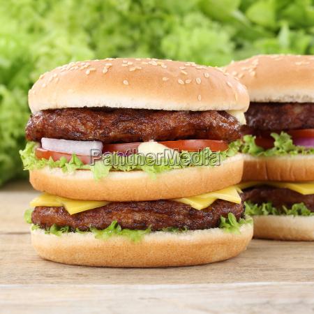 doubleburger double burger hamburger cheese tomatoes