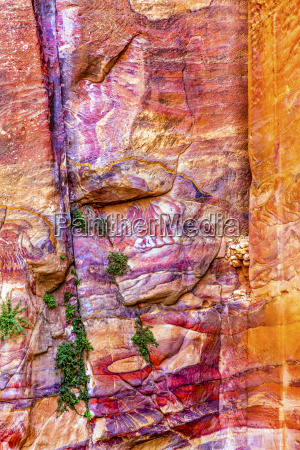 roter rock abstract in der naehe