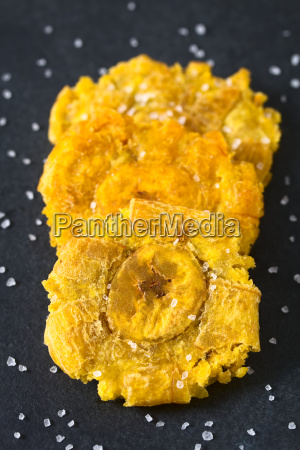 salted patacon fried plantain slices
