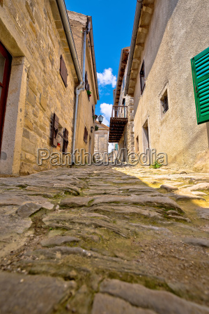 town of hum old cobbled street