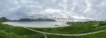 ramberg strand in flakstad lofoten islands