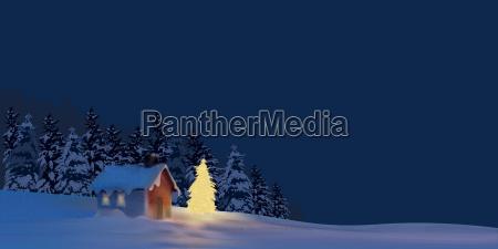 illuminated christmas tree background