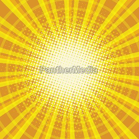 yellow orange rays pop art retro