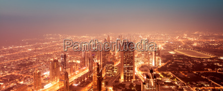 beautiful night dubai cityscape