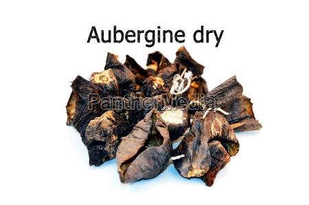 sonne getrocknet aubergine trocken neue stock