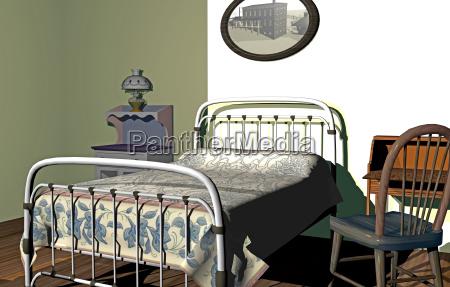 schlafzimmer mit moebeln