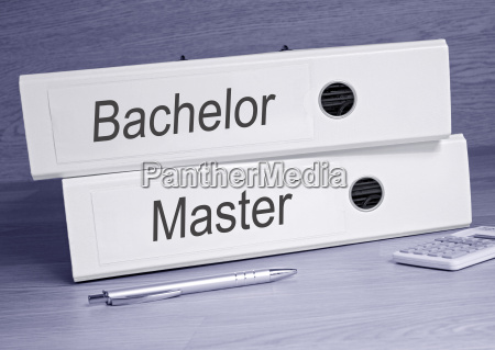 bachelor und master ordner im buero