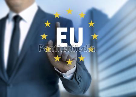 eu europaeische union touchscreen konzept