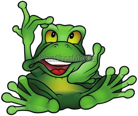 chatty green frog