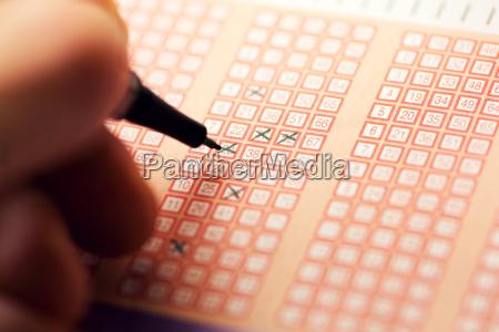 fuellen sie ein bingo lotto lottoticket