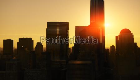 usa new york city skyline bei