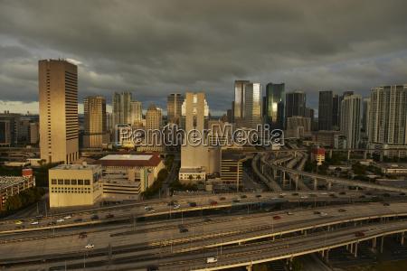 usa miami view to the city