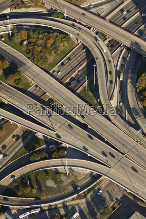 usa chicago aerial photograph of the