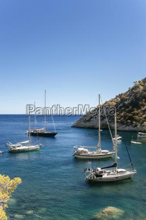 spian ibiza llentrisca beach with sailing