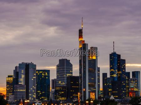 deutschland frankfurt am main blick auf