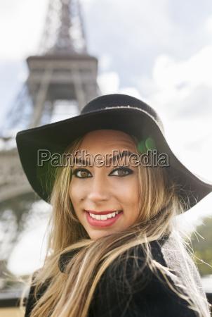 france paris portrait of smiling woman